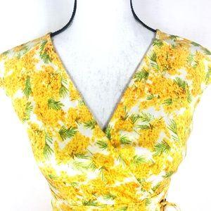 Diane von Furstenberg faux wrap floral silk dress